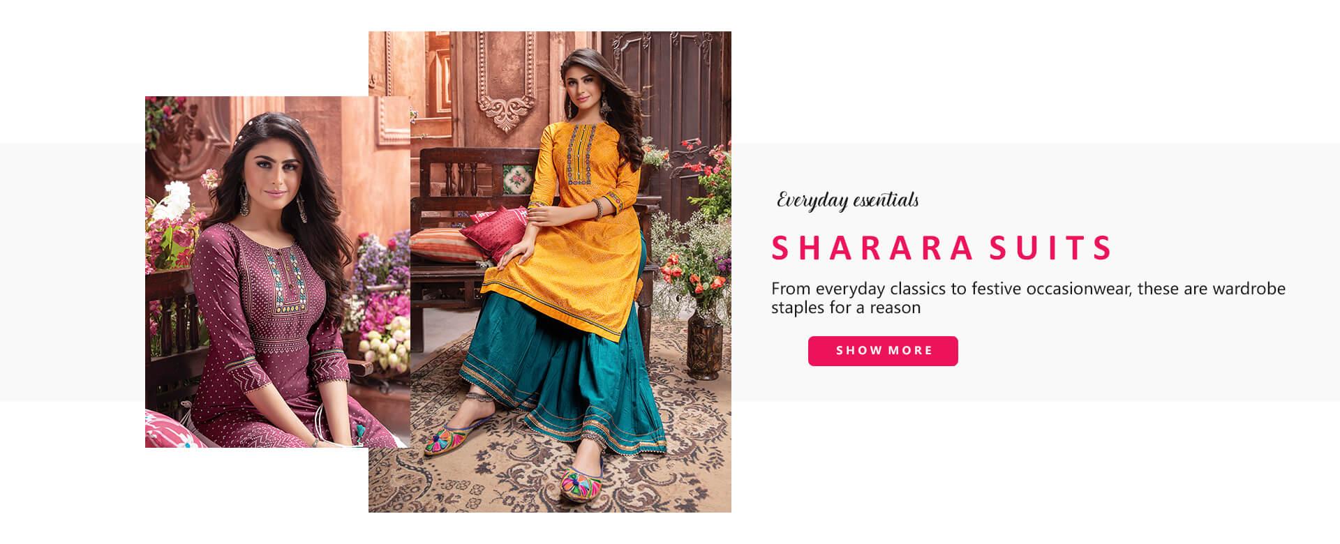 Bhadar Sharara Suits